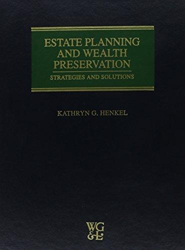 9780791333044: Estate Planning & Wealth Preservation: Strategies & Solutions