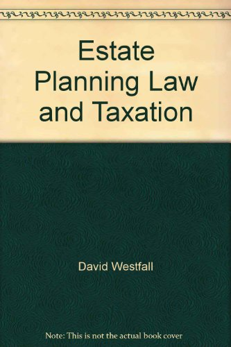 9780791341094: Estate planning law and taxation