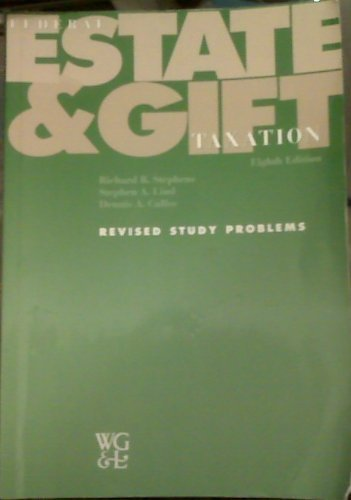 9780791354292: Federal Estate and Gift Taxation: Revised Study Problems