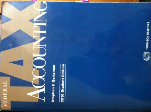 9780791374641: Federal Tax Accounting 2010 Student Edition