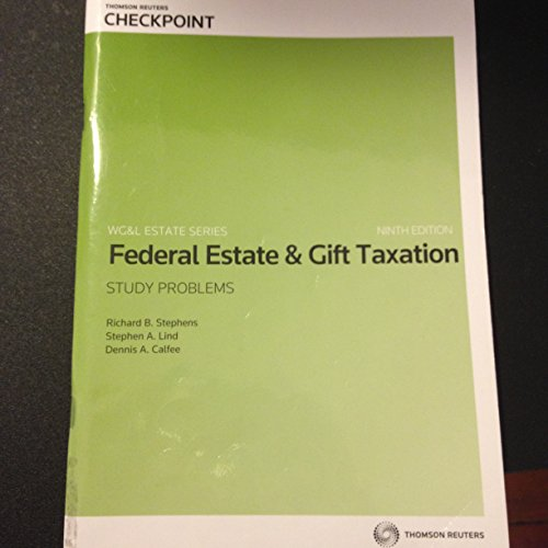 9780791386491: FED.ESTATE+GIFT TAX.-STUDY PROBS.