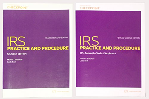 9780791389430: IRS Practice and Procedure - Revised Second Student Edition with 2014 Cumulative Student Supplement