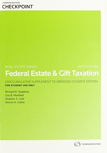 9780791389737: Federal Estate & Gift Taxation - AbeBooks