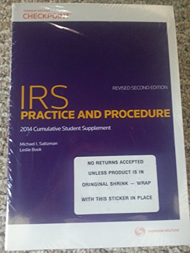 9780791389911: IRS Practice and Procedure 2014 Cumulative Supplement No. 1