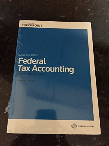 9780791392478: Federal Tax Accounting, 2015 Student Edition