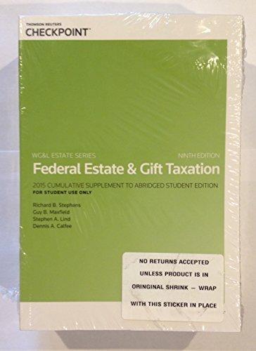 9780791392836: Federal Estate & Gift Taxation w/2015 Cumulative Supplement