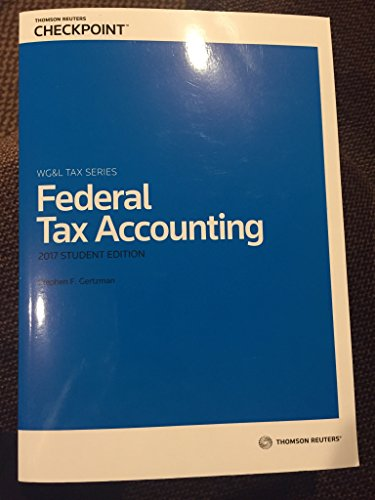 9780791398739: Federal Tax Accounting 2017 Edition