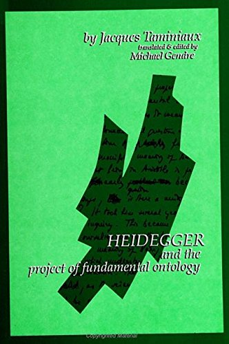 9780791406854: Heidegger and the Project of Fundamental Ontology (SUNY series in Contemporary Continental Philosophy)