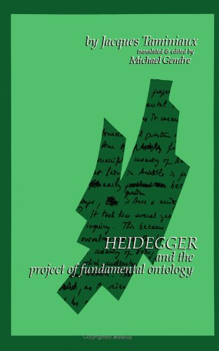 9780791406861: Heidegger and the Project of Fundamental Ontology (S U N Y Series in Contemporary Continental Philosophy)