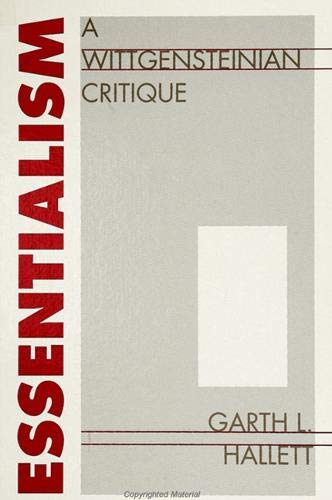 9780791407745: Essentialism: A Wittgensteinian Critique (S U N Y Series in Logic and Language)