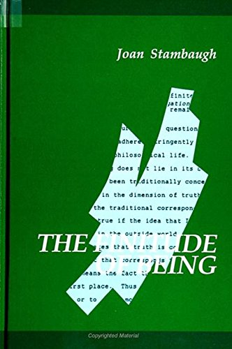 The Finitude of Being (Suny Series in Contemporary Continental Philosophy): Stambaugh, Joan