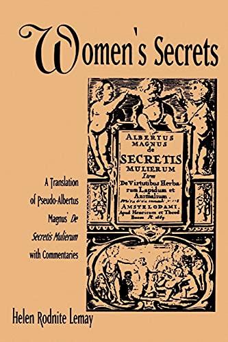 "9780791411445: Women's Secrets (Suny Series, Environmental Public Policy): Translation of Pseudo-Albertus Magnus' ""De Secretis Mulierum"" with Commentaries (SUNY series in Medieval Studies)"