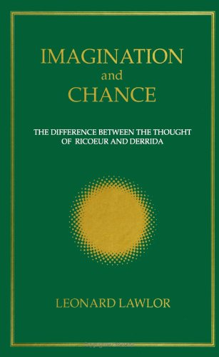 9780791412183: Imagination and Chance: The Difference Between the Thought of Ricoeur and Derrida (SUNY series, Intersections: Philosophy and Critical Theory)