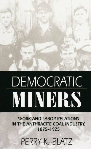 Democratic Miners: Work and Labor Relations in the Anthracite Coal In (Suny Series in American ...