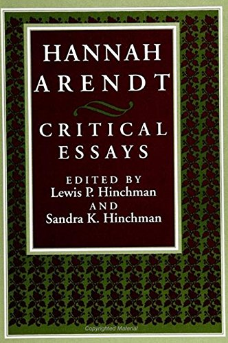 9780791418536: Hannah Arendt: Critical Essays (S U N Y Series in Political Theory)
