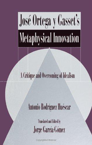 9780791422366: Jose Ortega Y Gasset's Metaphysical Innovation: A Critique and Overcoming of Idealism (Suny Series in Latin American and Iberian Thought and Culture)