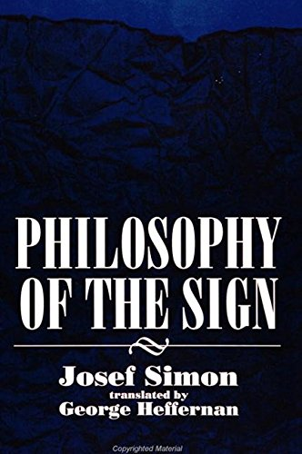 9780791424537: Philosophy of the Sign (Suny Series in Philosophy)