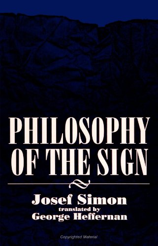 9780791424544: Philosophy of the Sign (SUNY Series in Philosophy)
