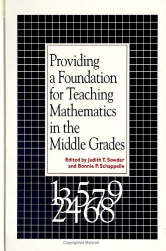 9780791425336: Providing a Foundation for Teaching Mathematics in the Middle Grades (S U N Y Series, Reform in Mathematics Education)
