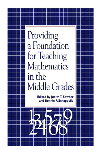 9780791425343: Providing a Foundation for Teaching Mathematics in the Middle Grades (S U N Y Series, Reform in Mathematics Education)