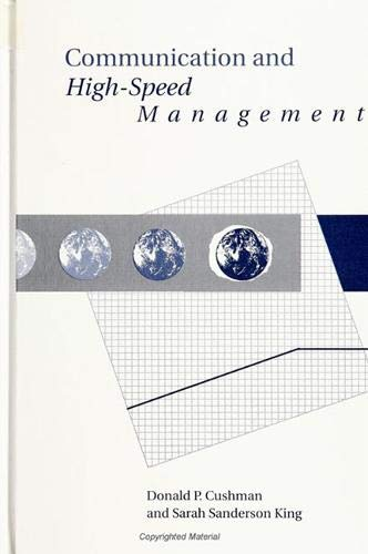 9780791425367: Communication and High-Speed Management