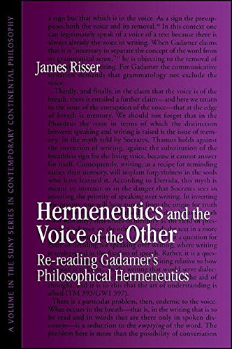 9780791432570: Hermeneutics and the Voice of the Other: Re-Reading Gadamer's Philosophical Hermeneutics (Suny Series in Contemporary Continental Philosophy)