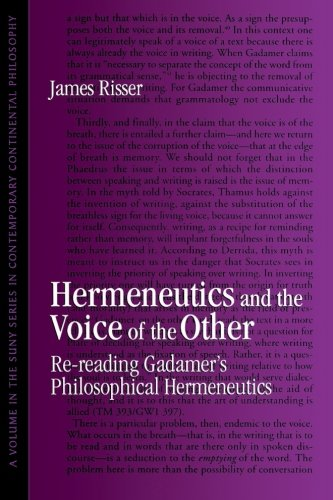 9780791432587: Hermeneutics and the Voice of the Other (Suny Series in Contemporary Continental Philosophy): Re-reading Gadamer's Philosophical Hermeneutics