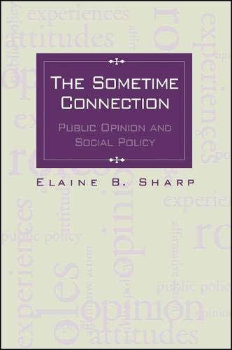 9780791442968: The Sometime Connection: Public Opinion and Social Policy (SUNY series in Urban Public Policy)