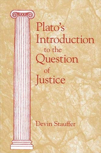 9780791447451: Plato's Introduction to the Question of Justice