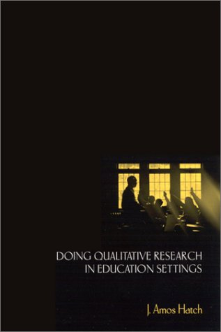 9780791455036: Doing Qualitative Research in Education Settings