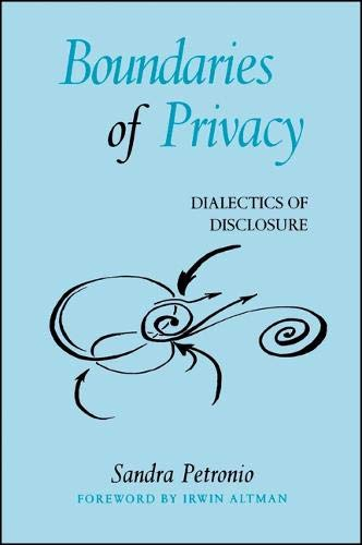 9780791455159: Boundaries of Privacy: Dialectics of Disclosure (SUNY series in Communication Studies)