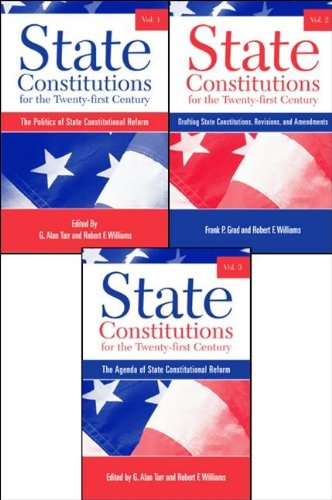 9780791470022: State Constitutions for the Twenty-First Century, Volumes 1, 2 & 3 (SUNY Series in American Constitutionalism) (v. 1, 2 and 3)