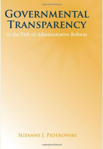 9780791470855: Governmental Transparency in the Path of Adminstrative Reform