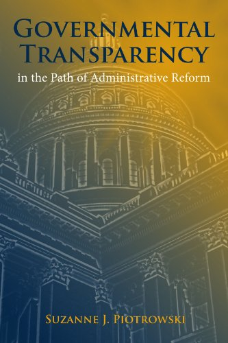 9780791470862: Governmental Transparency in the Path of Adminstrative Reform