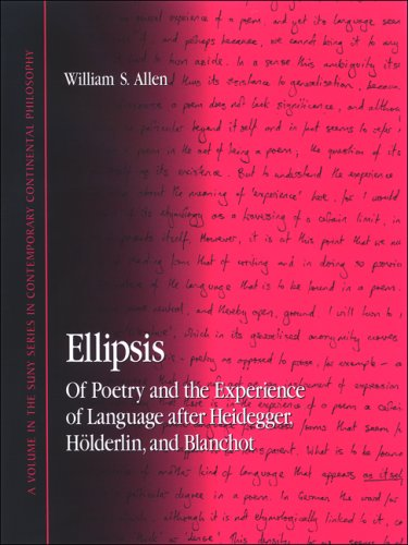 9780791471517: Ellipsis: Of Poetry and the Experience of Language After Heidegger, Holderlin, and Blanchot (S U N Y Series in Contemporary Continental Philosophy)
