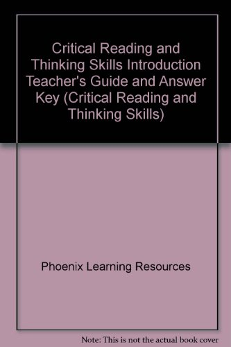 9780791516041: Critical Reading and Thinking Skills Introduction Teacher's Guide and Answer Key (Critical Reading and Thinking Skills)