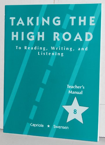 9780791516584: Taking the High Road to Reading, Writing, and Listening Teachers Manual #8 (8)