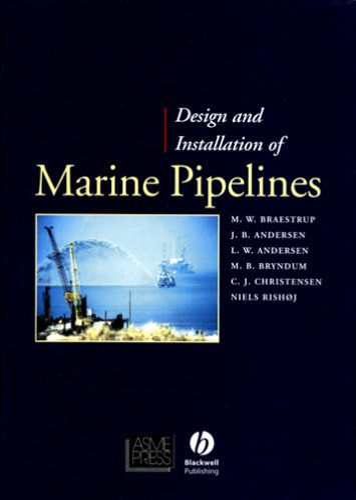 Design and Installation of Marine Pipelines (Pipelines: MW Braestrup, JB