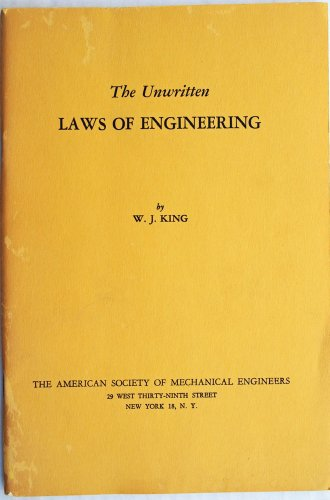 9780791806418: The Unwritten Laws of Engineering
