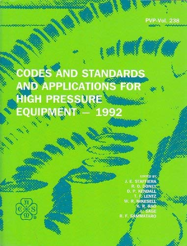 Codes and Standards and Applications for High: J. E. Staffiera