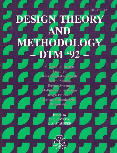 9780791809365: Design Theory and Methodology (Dtm 92, Vol 42)