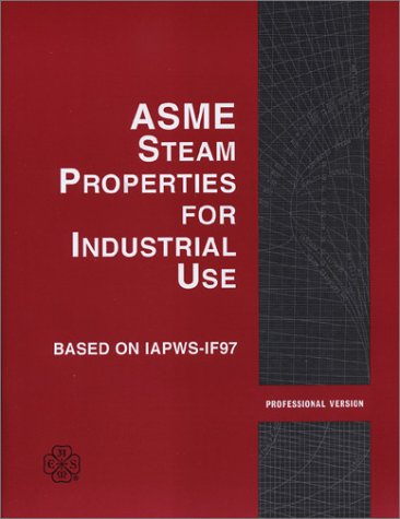 9780791819562: ASME Steam Properties for Industrial Use Based on IAPWS-IF97: Professional Version 1.1