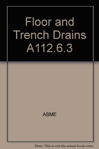 9780791827215: Floor and Trench Drains A112.6.3