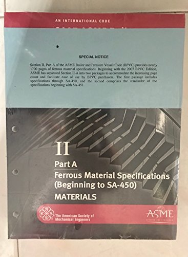 9780791830482: BPVC-IIA - 2007 BPVC Section II - Materials - Part A - Ferrous Material Specifications