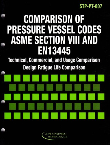 9780791830932: Comparison of Pressure Vessel Codes ASME Section VIII and EN13445: Technical, Commercial,  and Usage Comparison Design Fatigue Life Comparison