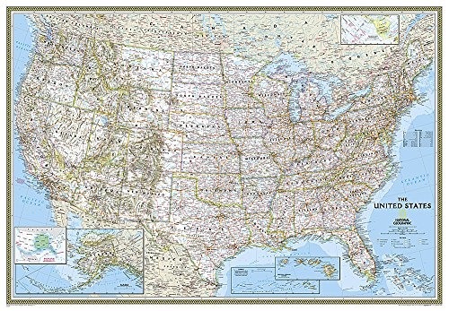 9780792229872: United States Classic [Enlarged and Laminated] (National Geographic Reference Map)