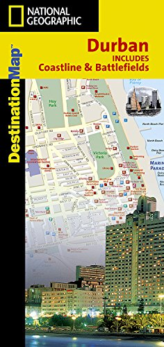 9780792233220: National Geographic Destination City Map Durban: South Africa