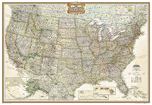 9780792233794: **Usa Antique Plastifie Executive Geant175 Cm X 122 Cm: PP.NGUS620115 (National Geographic Reference Map)