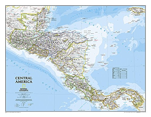 9780792249597: Central America Classic, tubed Wall Maps Countries & Regions: NG.P620011 (Reference - Countries & Regions)