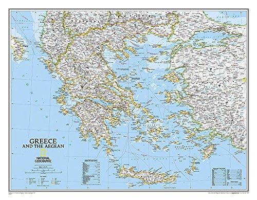 9780792249696: Greece Classic [Tubed] (National Geographic Reference Map)